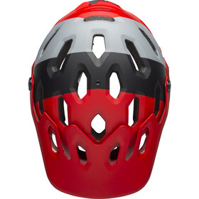 Bell Super 3R MIPS Casco, downdraft matte crimson/black